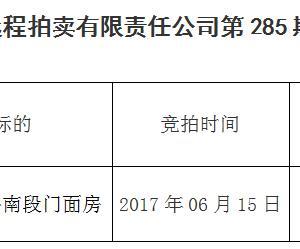 马鞍山市远程拍卖有限责任公司285期拍卖成交公告
