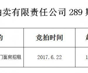 马鞍山市远程拍卖有限责任公司289期拍卖成交公告