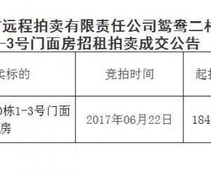 马鞍山市远程拍卖有限责任公司第289期成交公告