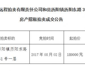 马鞍山市远程拍卖有限责任公司298期拍卖成交公告