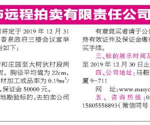 马鞍山市远程拍卖有限责任公司第587期拍卖公告